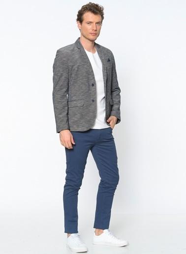 Koton Slim Fit Blazer Ceket Lacivert